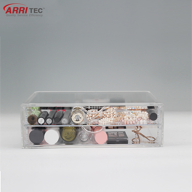 clear organizer plastic makeup storage drawer acrylic cosmetic display tray