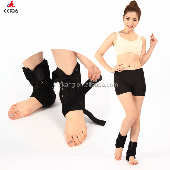 Adjustable foot sleeve Ankle Stabilizer black neoprene ankle brace support