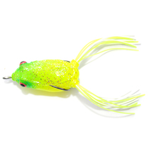 Factory-sell fishing lure soft frog CHFW-25 40mm 6g for fishing over weed choked areas or lily pads