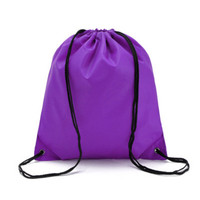 Outdoor Drawstring Bag Backpack Casual Travel Back Pack Canvas Gym Bag Sport Bags
