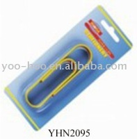 Yellow vinyl coated paper clips YHN2095