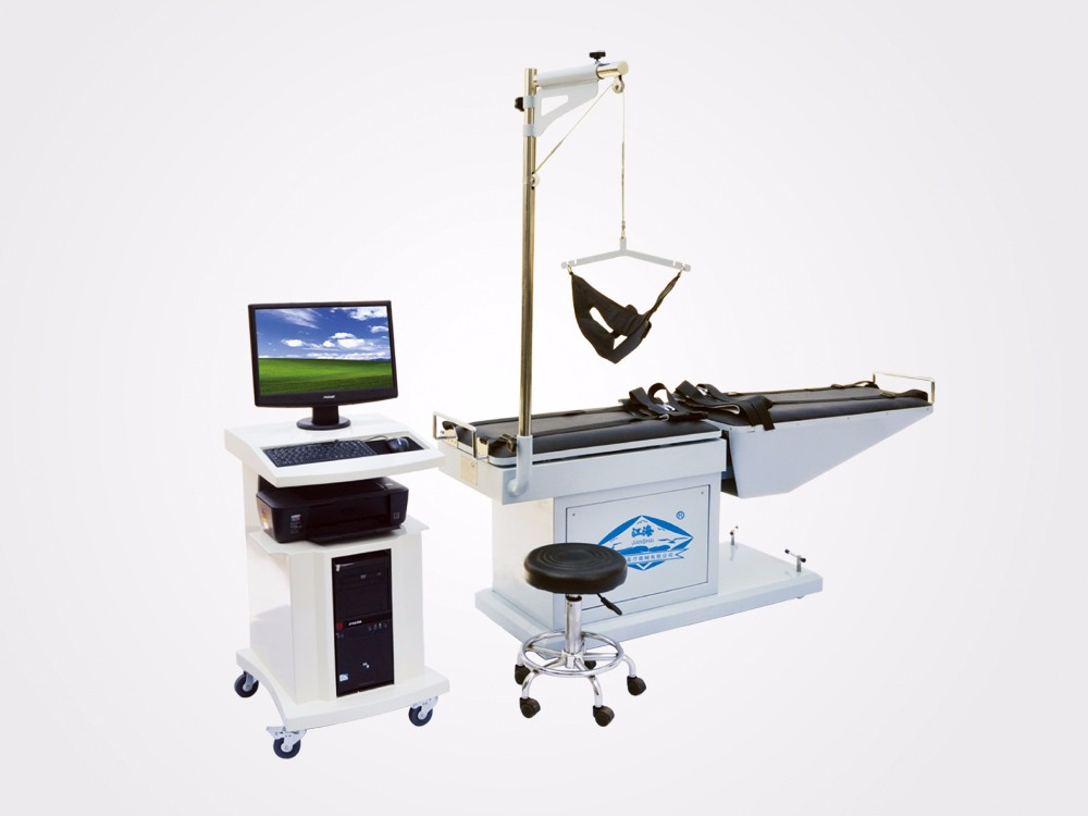 CE approved Hospital lumbar traction bed & cervical traction table device