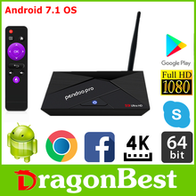 2017 Best selling Pendoo Pro RK3328 2G 16G TV Box andriod set top box With Promotional Pri Android 7.1 Smart