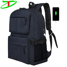 Casual College Student Travel Laptop Bag with USB Charging Port Classic School Backpack China