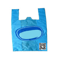 Wholesale Custom Market Used Plastic T Shirts Bags For Shopping