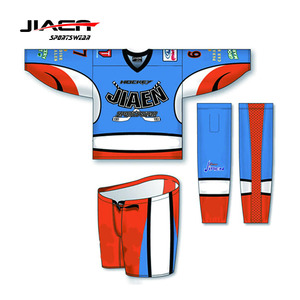 cheap practice custom high quality beer league hockey jerseys 100% Polyester Sublimation reversible goalie hockey jerseys