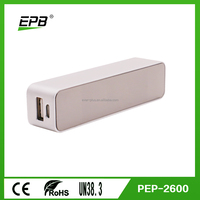 Good quality 2600mAh portable mobile charger with Aluminium Alloy High quality gift powerbanks
