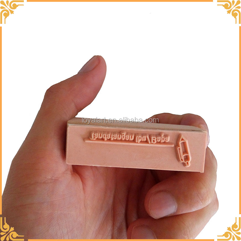 Factory Supply New Design Flash Rubber Stamp Deluxe Wooden Stamp