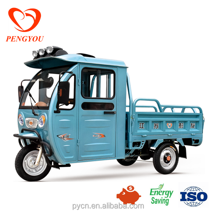 China Adult Cargo electric tricycle with closed driver cabin