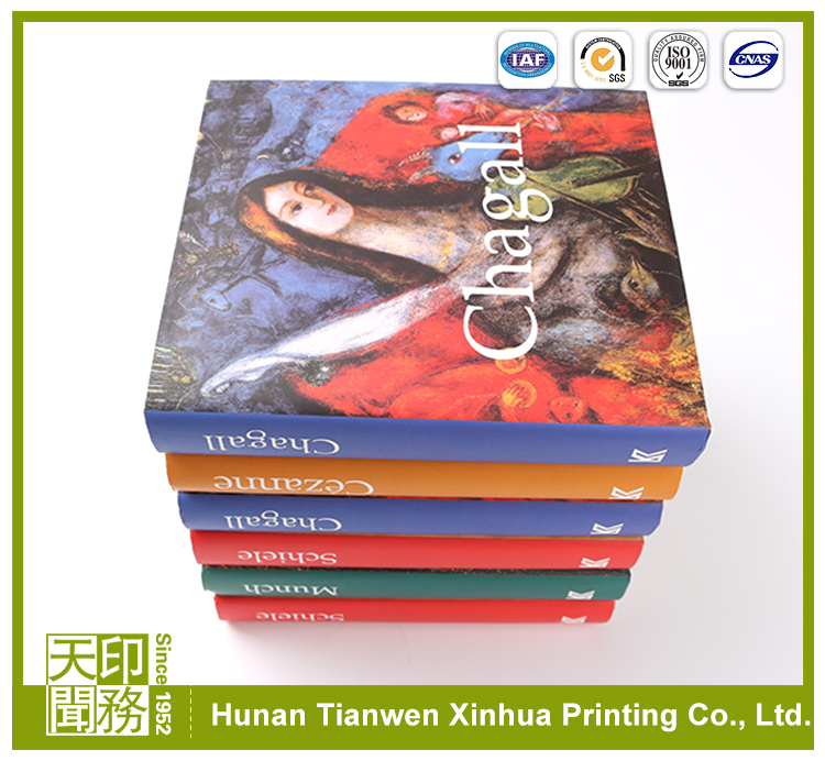 Super quality promotional free design art paper color paperback printing book