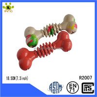 New style rubber solid bone toys for strong dog