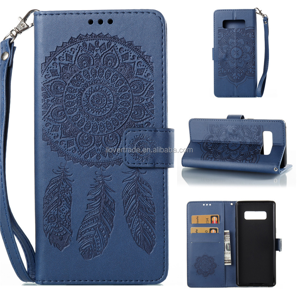 TPU PU leather wallet card slots mobile phone case cover for Samsung Galaxy Note 8