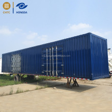 China Truck and Trailer Factory Dry Van Cargo Box Semi Trailer with Removable Door