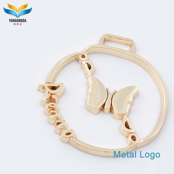 fashion custom hardware metal logo for bag accessories