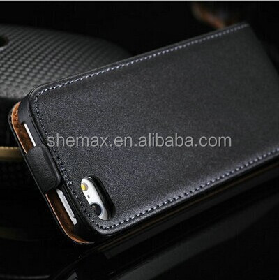 Premium PU Leather Flip Case for iPhone 5S Cell Phone