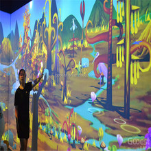 most popular 3D interactive projection system,kid games interactive floor projection system