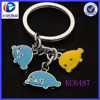 2014 novelty new items import from china cute fish shaped metal keyring