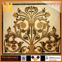flower waterjet marble tiles design floor pattern for home and hotel decoration