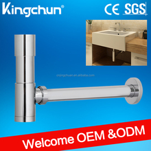 (J291)Kingchun Free Shipping New High Quality Brass Bath sink siphon/ chrome plated Bottle Trap for wash basin