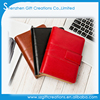 Custom high quality pu leather spiral journal notebook with belt