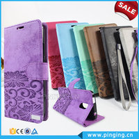Wallet Style Card Holder Leather Flip Cover For Alcatel One Touch Pixi 4 4.0 With A Rope