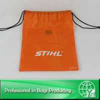 Customized 210D Polyester Drawstring Bag With Pocket