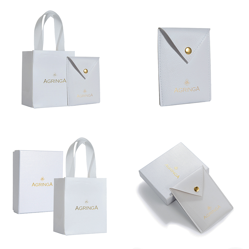 Eco friendly custom personalize luxury white bracelet jewelry necklace earring packaging elegant paper box for gift with logo