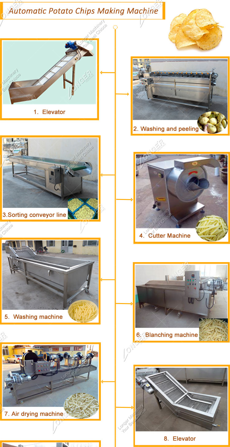 New Condition Frozen French Fries Production Line Automatic Potato Chips Making Machine Price