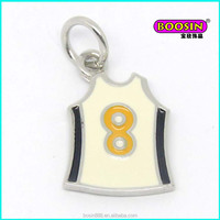 New arrival custom wholesale soccer souvenir metal enamel charms #13932