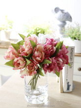 High Quality Vintage Plastic Silk Tulip flowers Artificial Tulip Bouquet Wedding flowers