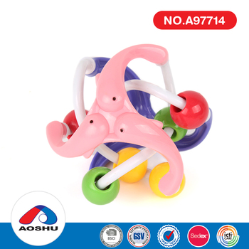 Colourful cute bell ball early educational plastic toys kids baby for sale