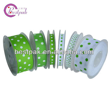 hot sale grasgrain ribbon with dots print for holiday