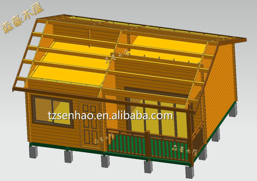 green wooden house design to live/wooden house india price/prefabricated wooden Log Cabins supplier in China