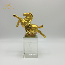 Gold Metal Horse Figurine Trophy for Custom Engraved