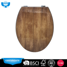 2018 wood grain patter polyresin toilet seat cover for polyresin