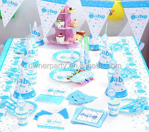 China Wholesale Custom Party Favors Decoration Set Baby Shower Birthday Party Supplies