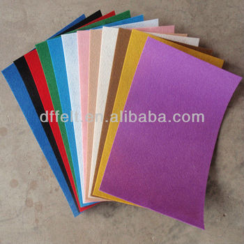 nonwoven needle punched colorful polyester felt