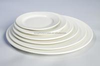 Wholesale pure white hotel restaurant ceramic cheap porcelain dinnerware