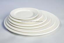 Wholesale pure white hotel restaurant ceramic cheap porcelain dinnerware