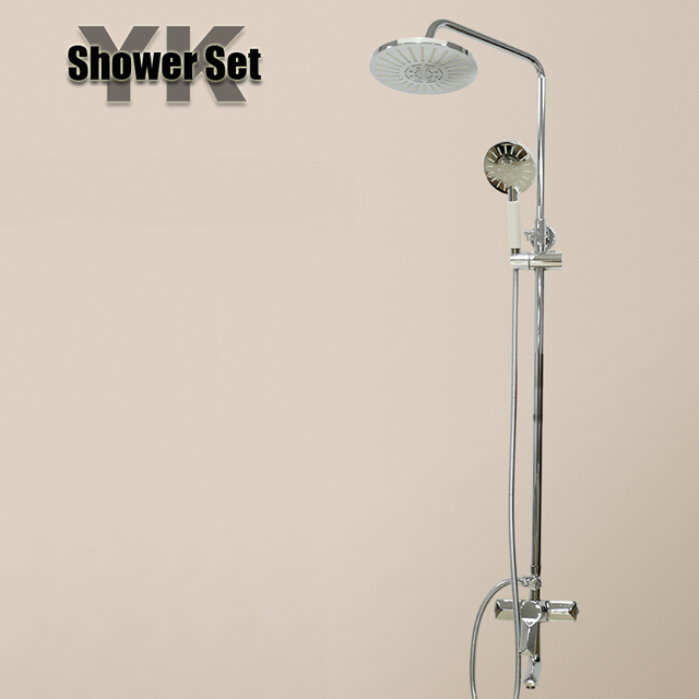 2017 New luxury royal silver rain bath shower set