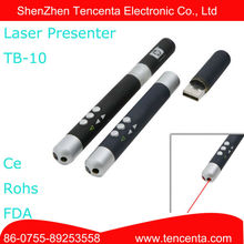 IR Wireless USB PPT Word flip Laser Pointer Pen Per Insegnare e Conferenze