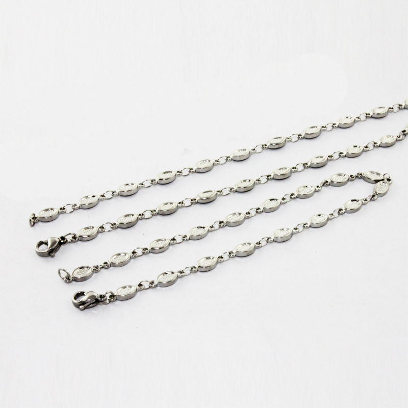 2014new style ellipse stainless steel jewellery set neckless and bracelet