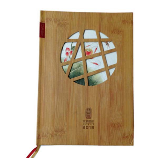 Beautiful artbook hardcover bamboo cover book