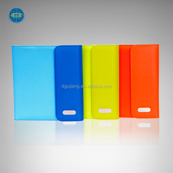 Colorful new a5 leather portfolio with power bank and tablet case