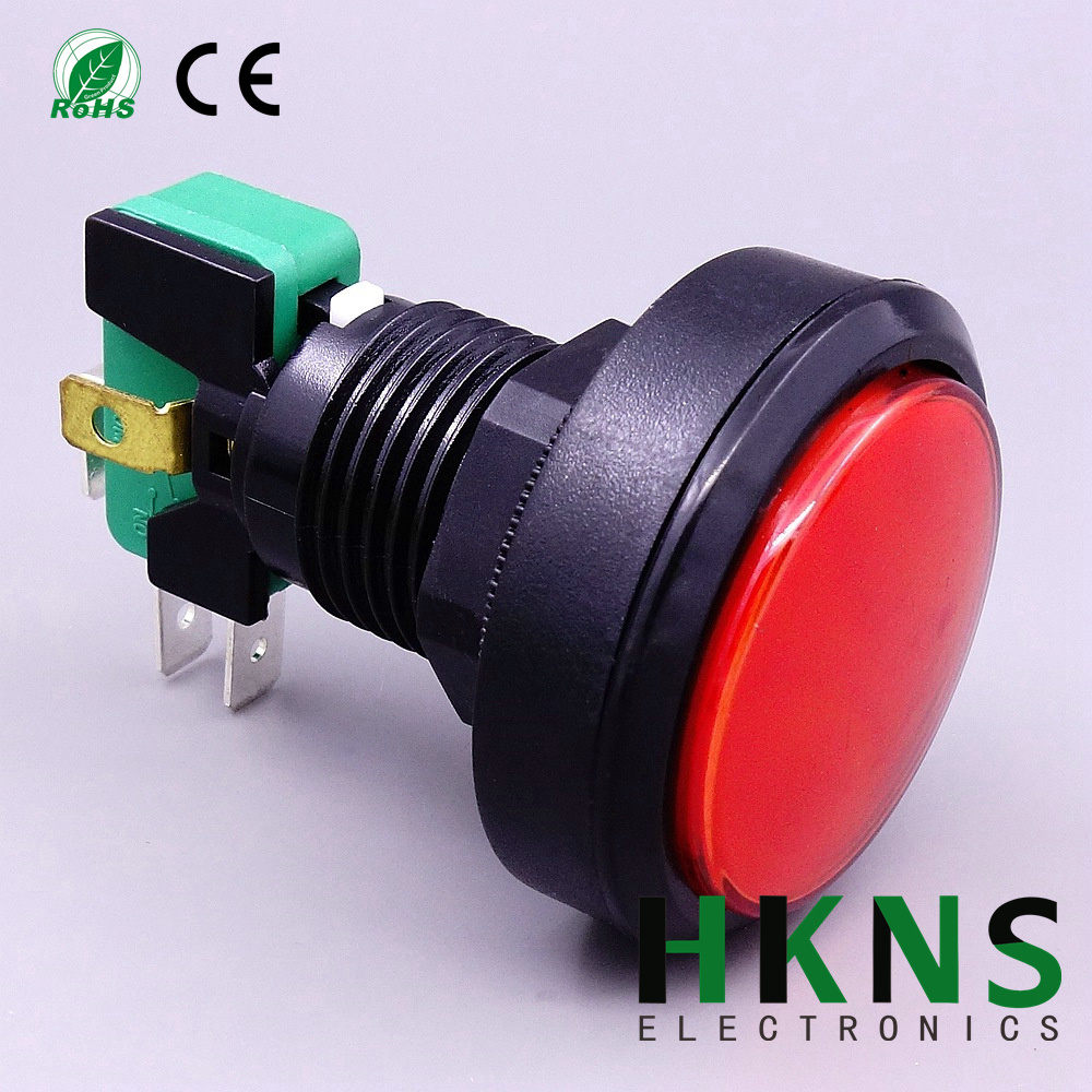 40mm micro push button switch with large red button