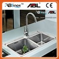 stainless steel double bowl stainless steel kitchen sink