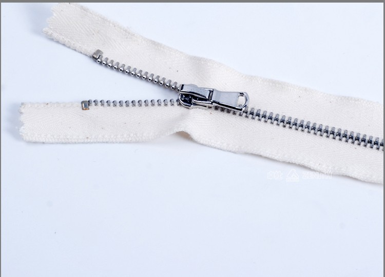 Metal Zipper Cotton Dyeable Tape for Jeans ZM10007
