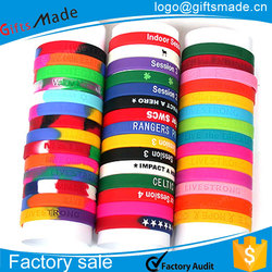 cheap personalised design colorful silicone bracelet/rubber bracelets design your own