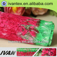 2015 fashion new design polyester spandex fancy high quality cheap lace fabric