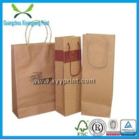 recycled simple design wine packing bag, fancy Eco-friendly wine bag